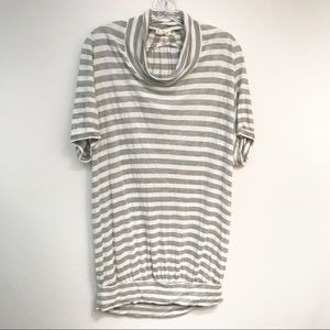 We the Free Free People • Striped Cowl Neck Tee M